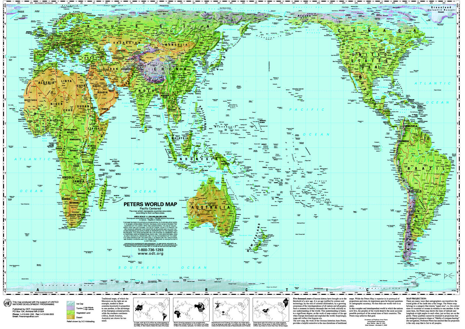 World Map Pacific Centered