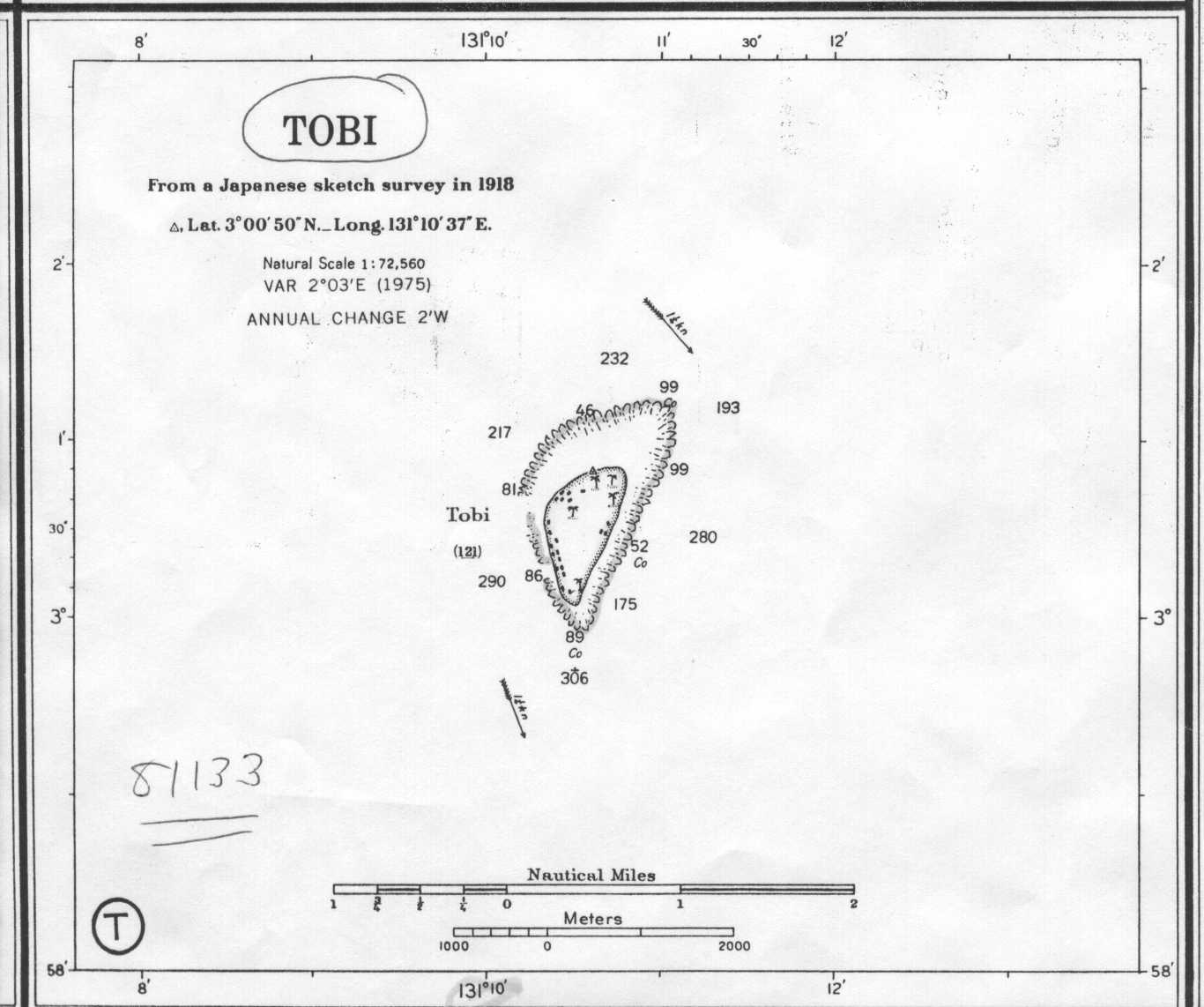Defense Mapping Agency Chart Of Tobi